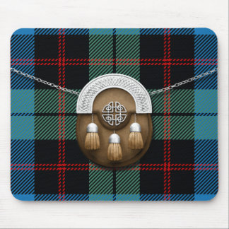 Clan Guthrie Tartan And Sporran Mouse Pad