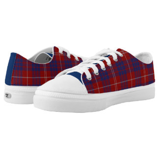 Clan Hamilton Tartan Plaid Tennis Shoes