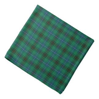 Clan Henderson Bright Green, Blue and Black Tartan Bandana
