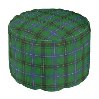 Clan Henderson Scottish Style Blue Green Tartan Pouf