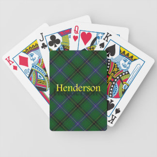 Clan Henderson Scottish Tartan Bicycle Playing Cards