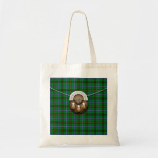 Clan Henderson Tartan And Sporran Tote Bag