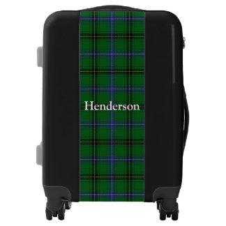 Clan Henderson Tartan Customize Your Name Luggage