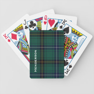 Clan Henderson Tartan Plaid Playing Cards