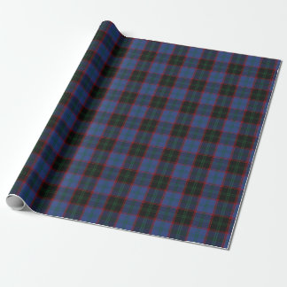 Clan Home Blue Green Black Red Scottish Tartan Wrapping Paper