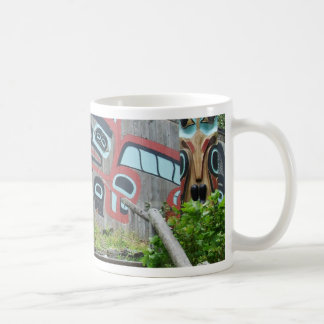 Clan house and totem poles, Ketchikan, Alaska Coffee Mug