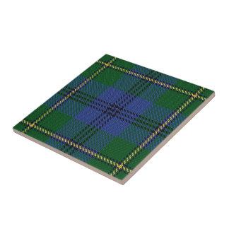 Clan Johnstone Johnston Scottish Tartan Tile
