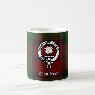 Clan Kerr Crest Badge Tartan Coffee Mug