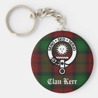 Clan Kerr Crest Badge Tartan Key Ring