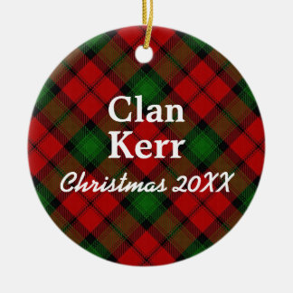 Clan Kerr Scottish Tartan Ceramic Ornament
