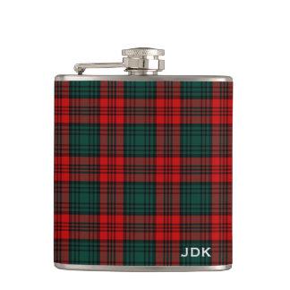 Clan Kerr Tartan Monogrammed Hip Flask