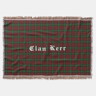 Clan Kerr Tartan Throw Blanket