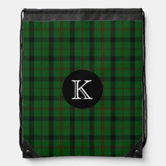 Clan Kincaid Tartan Plaid Monogram Backpack