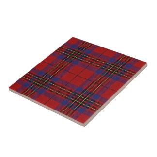 Clan Leslie Scottish Expressions Red Tartan Ceramic Tile
