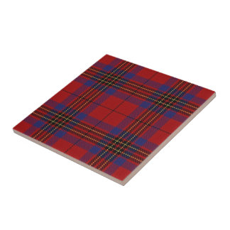 Clan Leslie Scottish Expressions Red Tartan Small Square Tile