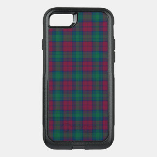 Clan Lindsay Tartan Maroon and Green Plaid OtterBox Commuter iPhone 8/7 Case