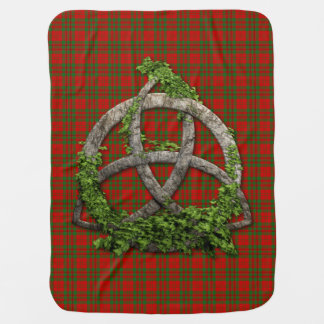 Clan Livingstone Tartan Celtic Trinity Baby Blanket