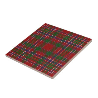 Clan MacAlister Scottish Expressions Red Tartan Ceramic Tile