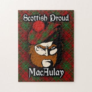 Clan MacAulay Scottish Proud Tartan Jigsaw Puzzle