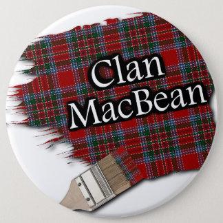 Clan MacBean Tartan Paint Brush 6 Cm Round Badge