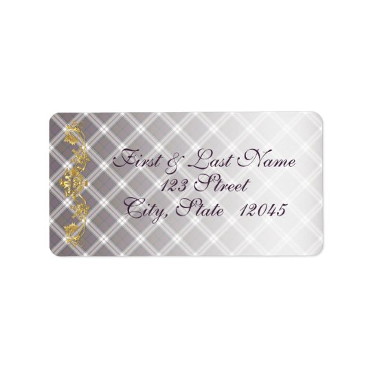 Clan MacDonald Dress Tartan & Thistle Mail Label 1 Address Label