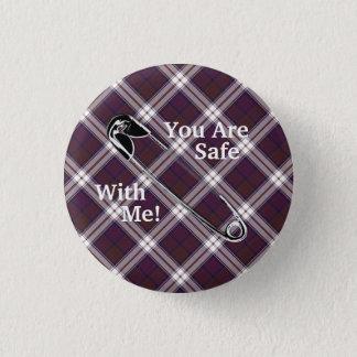 "Clan MacDonald Dress Tartan ""You Are Safe With Me! 3 Cm Round Badge"