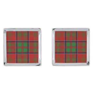 Clan MacDonald Of Glencoe Tartan Silver Finish Cuff Links