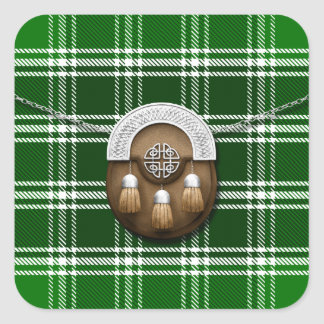 Clan MacDonald Of The Isles Ancient Tartan Sporran Square Sticker