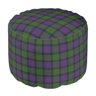 Clan MacDonald Scottish Style Green Purple Tartan Pouf