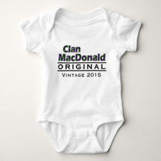 Clan MacDonald Vintage Customize Your Birthyear Baby Bodysuit