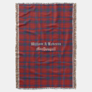 Clan MacDougall Tartan Plaid Custom Throw Blanket