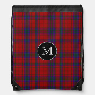 Clan MacDougall Tartan Plaid Monogram Backpack