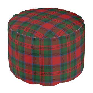 Clan MacDuff Scottish Style Red Green Tartan Pouf