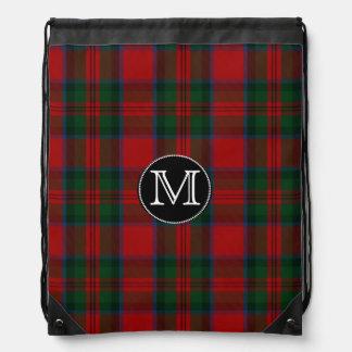Clan MacDuff Tartan Plaid Monogram Backpack
