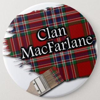 Clan MacFarlane Tartan Paint Brush 6 Cm Round Badge