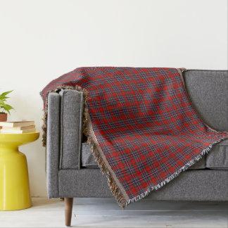 Clan MacFarlane Tartan Red and Blue Scottish Plaid Throw Blanket