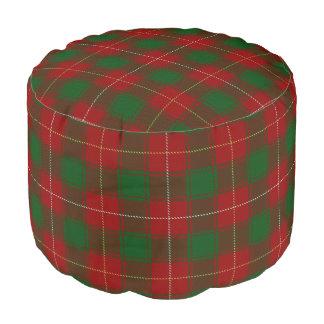 Clan MacFie Scottish Style Red Green Tartan Pouf