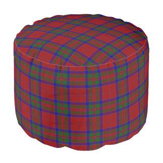 Clan MacGillivray Scottish Style Red Blue Tartan Pouf