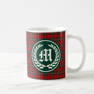 Clan MacGregor Tartan Monogram Coffee Mug