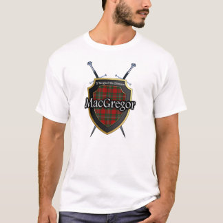 Clan MacGregor Tartan Scottish Shield & Swords T-Shirt