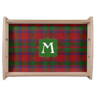 Clan MacIntosh Plaid Monogram Serving Tray