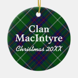 Clan MacIntyre Scottish Tartan Ceramic Ornament