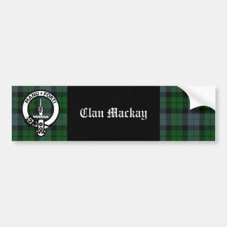 Clan Mackay Crest Badge & Tartan Bumper Sticker