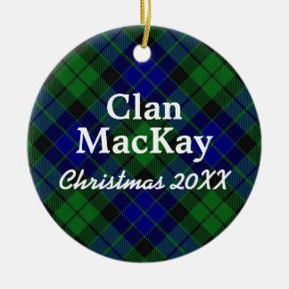 Clan MacKay Scottish Tartan Ceramic Ornament