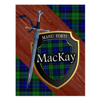 Clan MacKay Tartan Sword & Shield Postcard