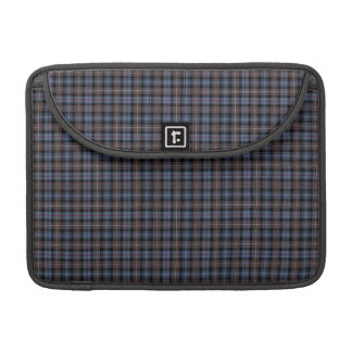 Clan Mackenzie Blue and Brown Weathered Tartan Sleeve For MacBook Pro