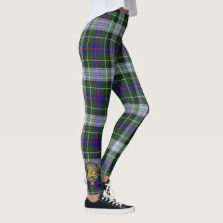 Clan MacKenzie Dress Tartan - With Crest Detail Leggings