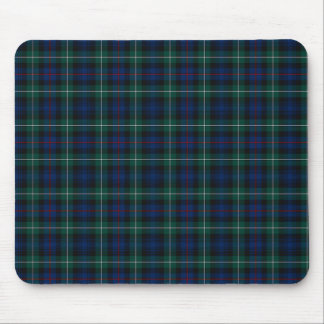 Clan Mackenzie Royal Blue and Forest Green Tartan Mouse Pad