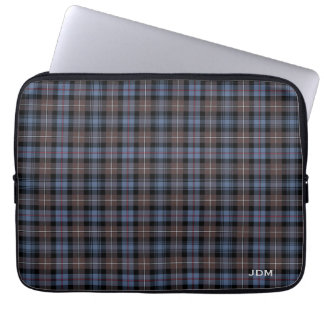 Clan Mackenzie Tartan Reproduction Plaid Monogram Laptop Sleeve
