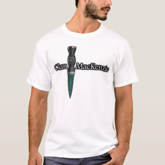 Clan MacKenzie Tartan Scottish Sgian Dubh T-Shirt